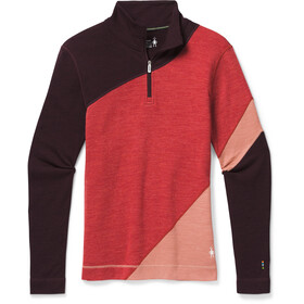 Smartwool Merino 250 Colorblock Maglia Baselayer Con Zip 1/4 Donna, masala heather